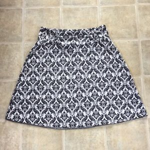 Soybu - Pull On Skirt - Black and White Print